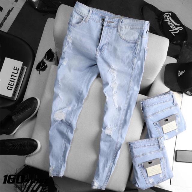 quần jean nam co dãn trơn NG07 nhiều mẫu cao cấp( hình thật ạ)