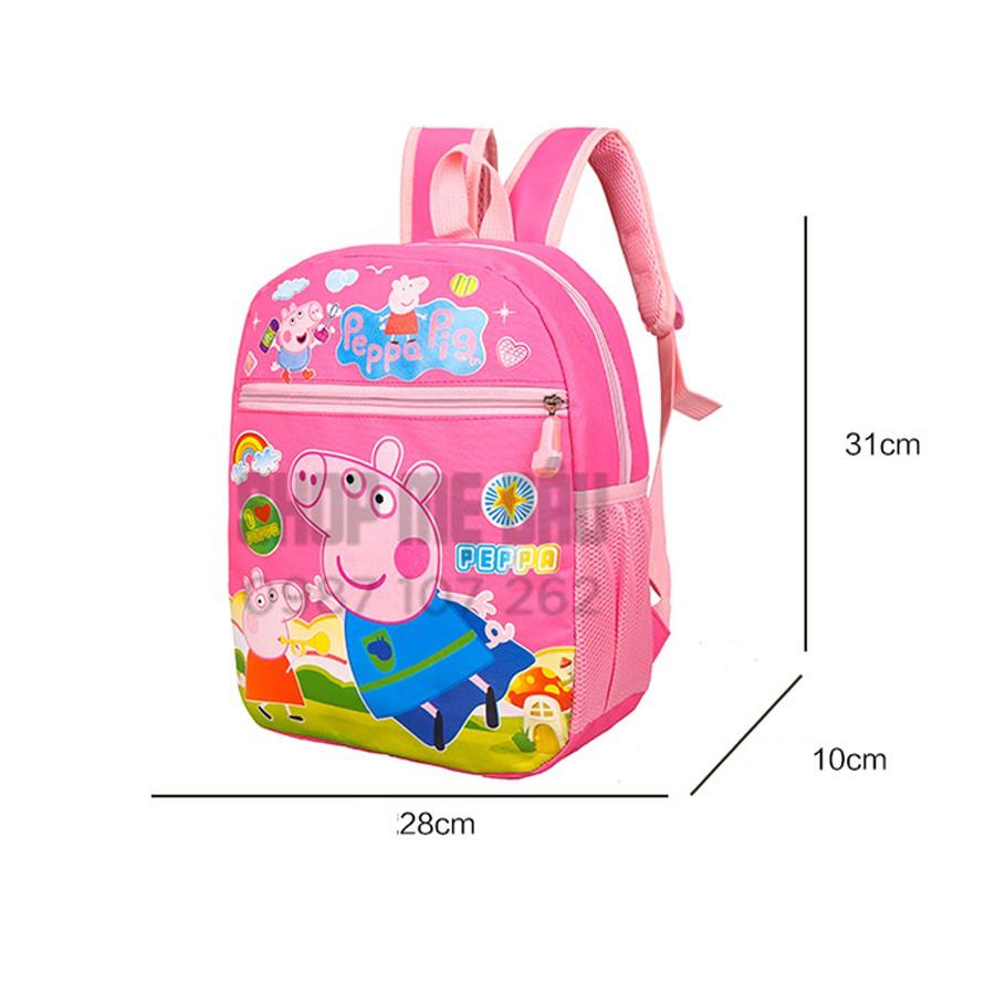Balo hoạt hình chú heo Peppa pig cho bé đi học và chơi