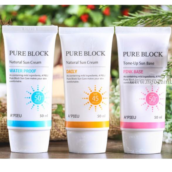 Kem Chống Nắng A'PIEU Pure Block 50ml - 2611700 , 768591439 , 322_768591439 , 122500 , Kem-Chong-Nang-APIEU-Pure-Block-50ml-322_768591439 , shopee.vn , Kem Chống Nắng A'PIEU Pure Block 50ml