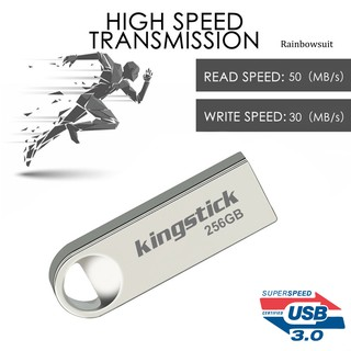 【RB】Kingstick 64/128/256/400GB Mini Metal Flash Drive Data Storage Pendrive U Disk