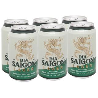 Bia Sài Gòn xanh Lager thùng 24 lon