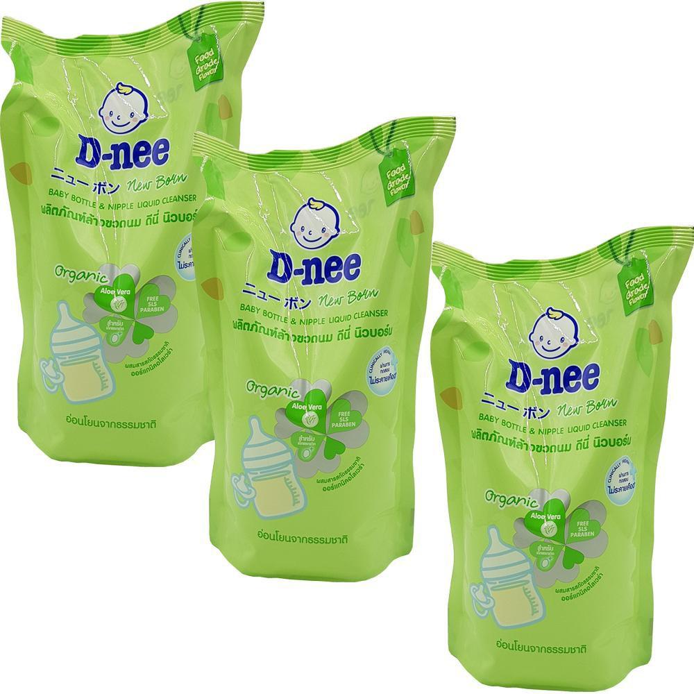 COMBO 5-7 túi nước rửa bình sữa và rau củ Dnee 600ml