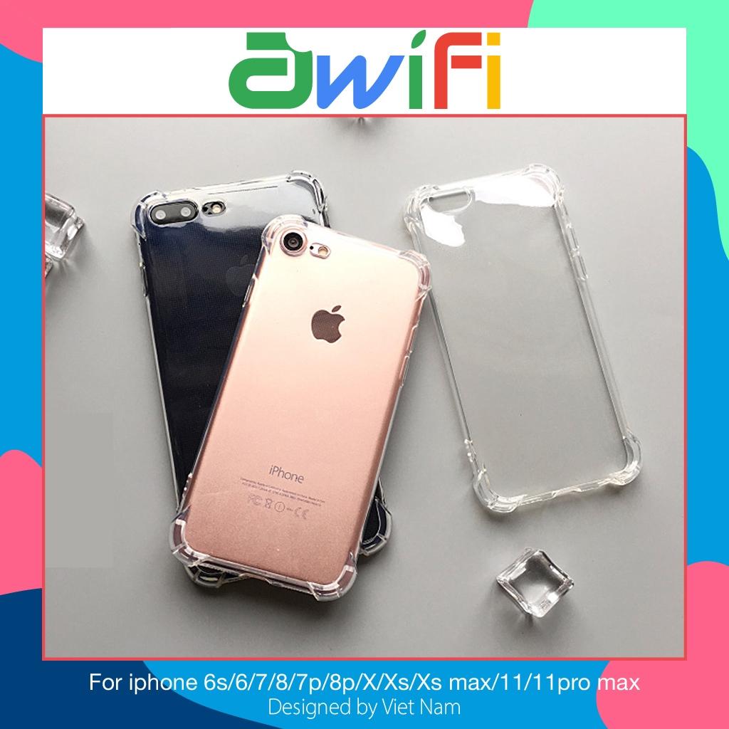 Ốp iphone - Ốp lưng chống sock, va đập 5s/6/6s/6plus/6s plus/7/8/7plus/8plus/x/xs/xs max/11/11pro max - Awifi Case B1-1