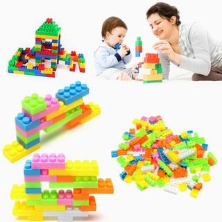 Bộ 144 miếng gạch đồ chơi xếp hình sáng tạo cho bé