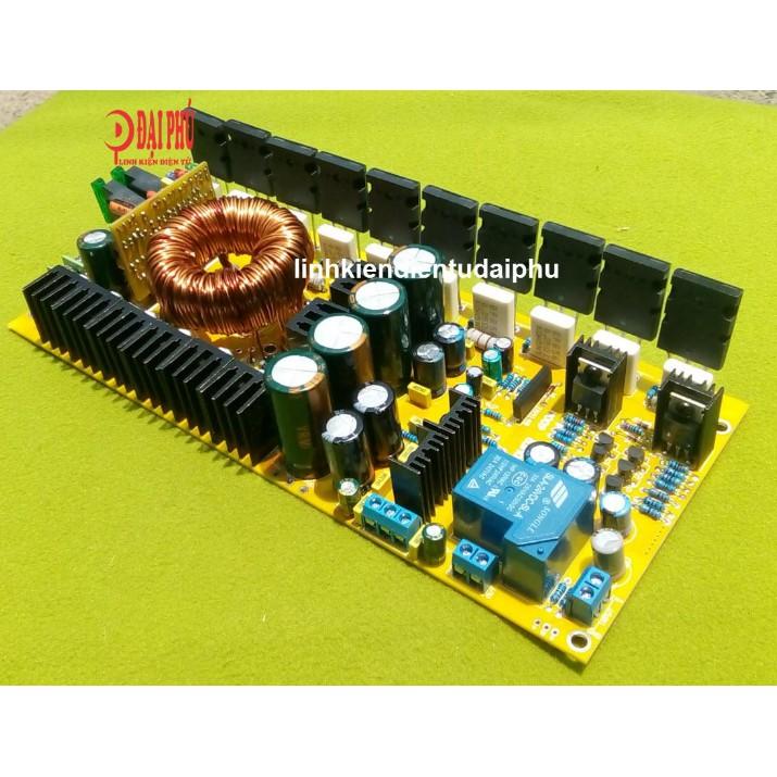 Mạch amplifier Mono 500W 10 sò 5200/1943, 12VDC, có bảo vệ loa - DIY loa kéo, Sub xe hơi - 3351921 , 1304486168 , 322_1304486168 , 1450000 , Mach-amplifier-Mono-500W-10-so-5200-1943-12VDC-co-bao-ve-loa-DIY-loa-keo-Sub-xe-hoi-322_1304486168 , shopee.vn , Mạch amplifier Mono 500W 10 sò 5200/1943, 12VDC, có bảo vệ loa - DIY loa kéo, Sub xe hơ