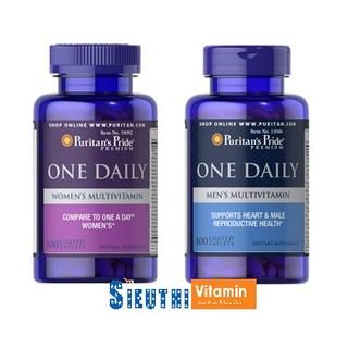 [CHÍNH HÃNG] Set 1 lọ Vitamin tổng hợp cho nam giới và 1 lọ Vitamin tổng hợp cho nữ giới Puritan's Pride Men and Women