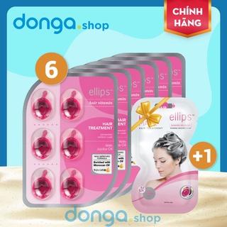 Viên dưỡng tóc Ellips Hồng - Chăm sóc, phục hồi tóc hư tổn với thành phần vitamin, tinh dầu Moroccan và Jojoba thumbnail