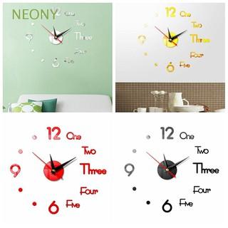 Đồng hồ dán tường 3D