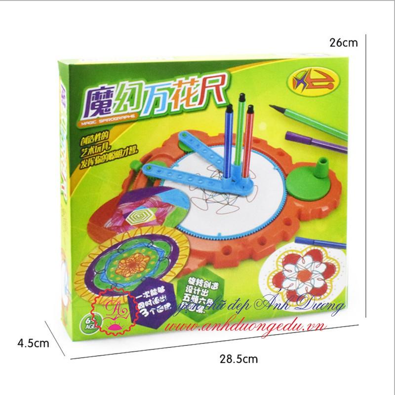 Thước vẽ sáng tạo quay tay Color Spinout