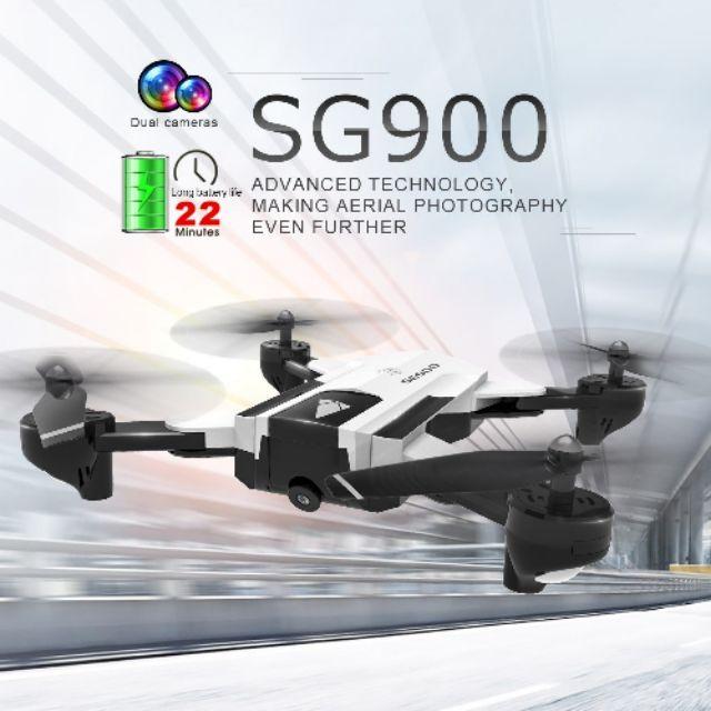 Máy bay điều khiển Flycam Drone SG900 (pin 2200mAh) có 2 Camera Wifi FPV trực tiếp giữ vị trí