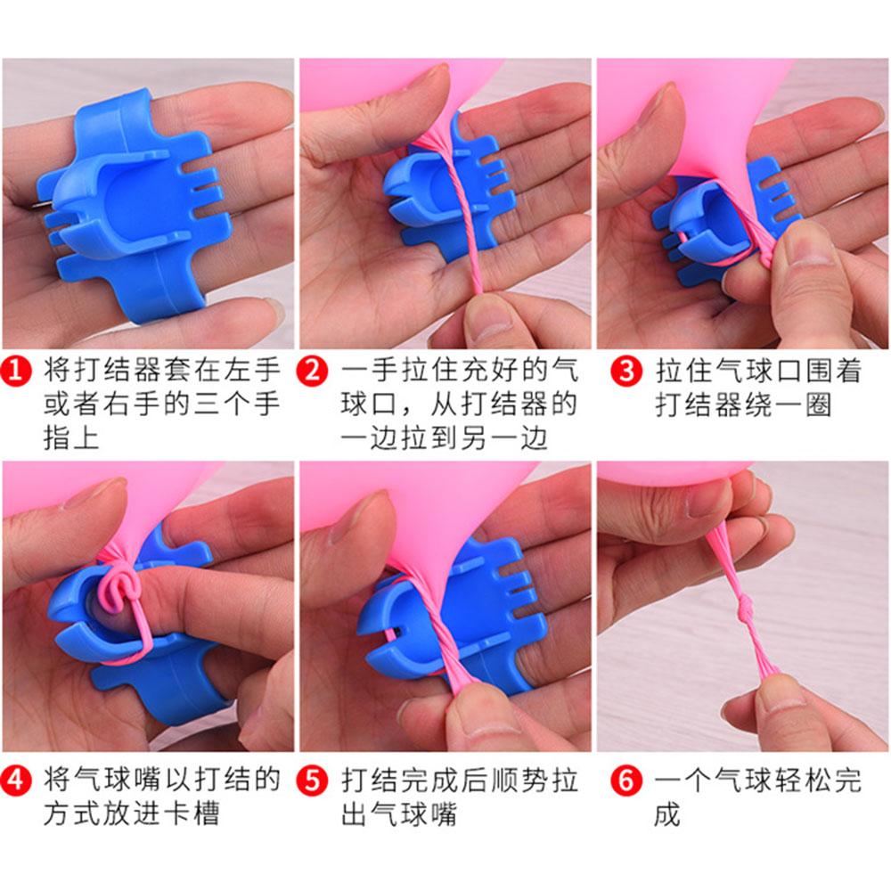 Cod Qipin Simple Wedding Birthday Party Arrange Knotting Artifact Latex Balloons Tool Gadget Easily Tie Knots