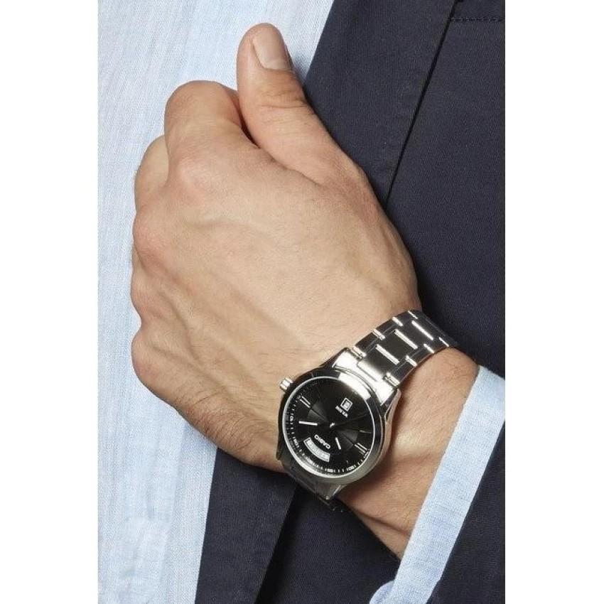 Đồng hồ nam dây kim loại Casio chính hãng Anh Khuê MTP-1381D-1AVDF