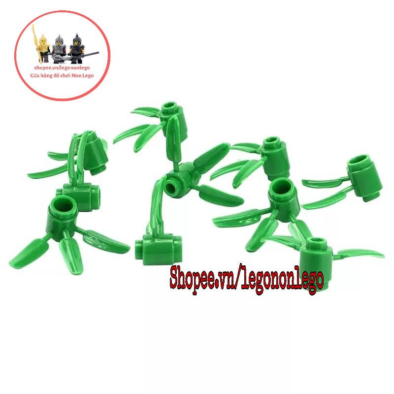 Phụ kiện Lego 10 part cỏ ba lá xanh xây công viên thành phố cây cối