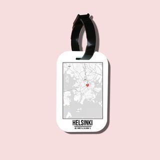 Travel tag cho túi xách balo du lịch in hình Love City - Helsinki thumbnail