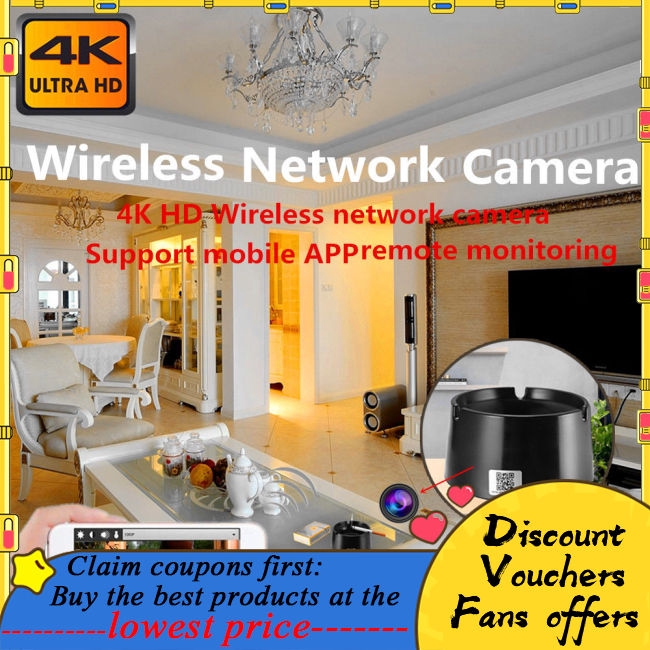 HD 4K Wireless WIFI Ashtray Camera Home Security System
