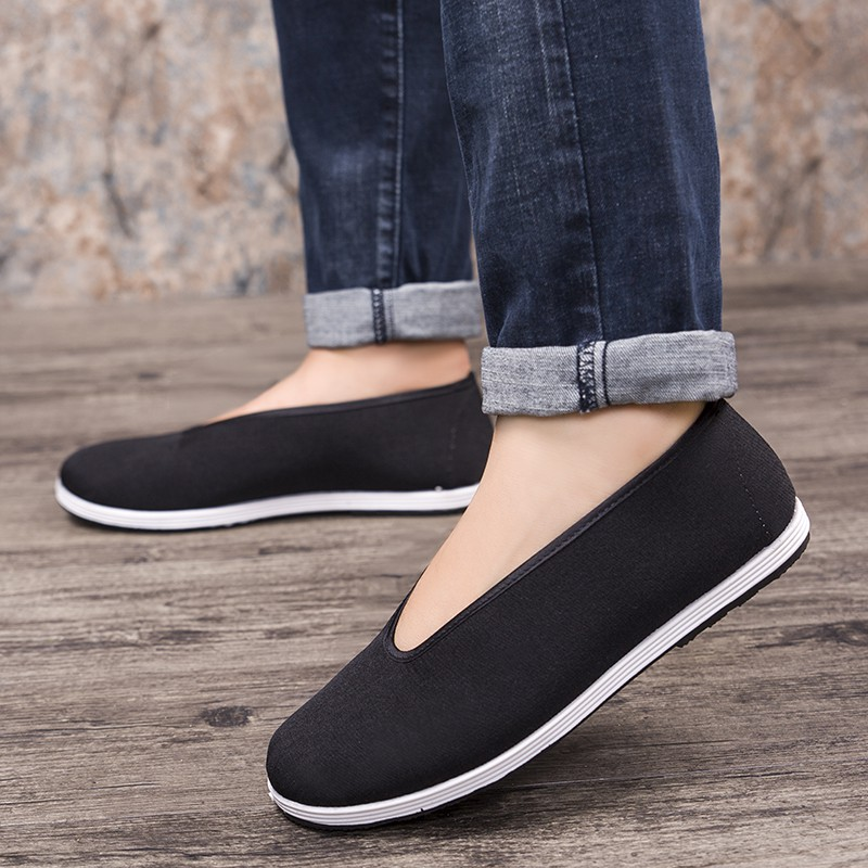 Best selling 2018 round mouth old Beijing cloth shoes black