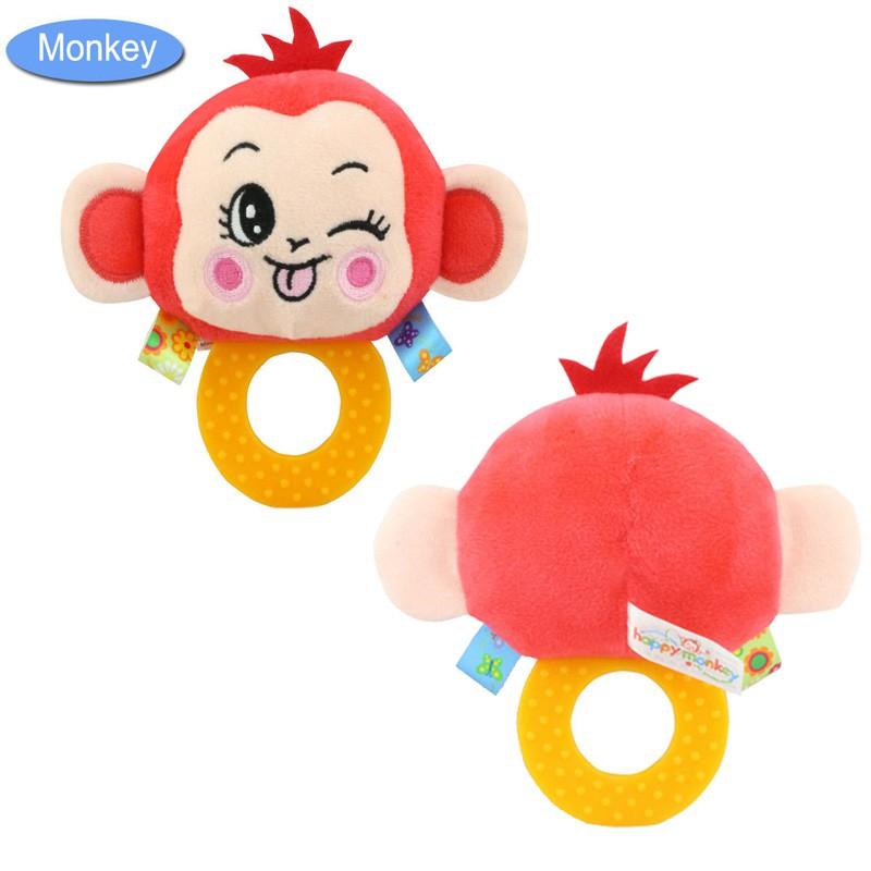 Đồ Chơi Cầm Tay Hình Con Khỉ Cho Bé Đang Mọc Răng