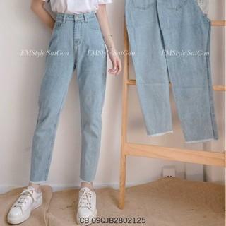 Quần jean baggy nữ ulzzang trơn lua tua ống thời trang FMstyle Saigon 20QJB11CB2501