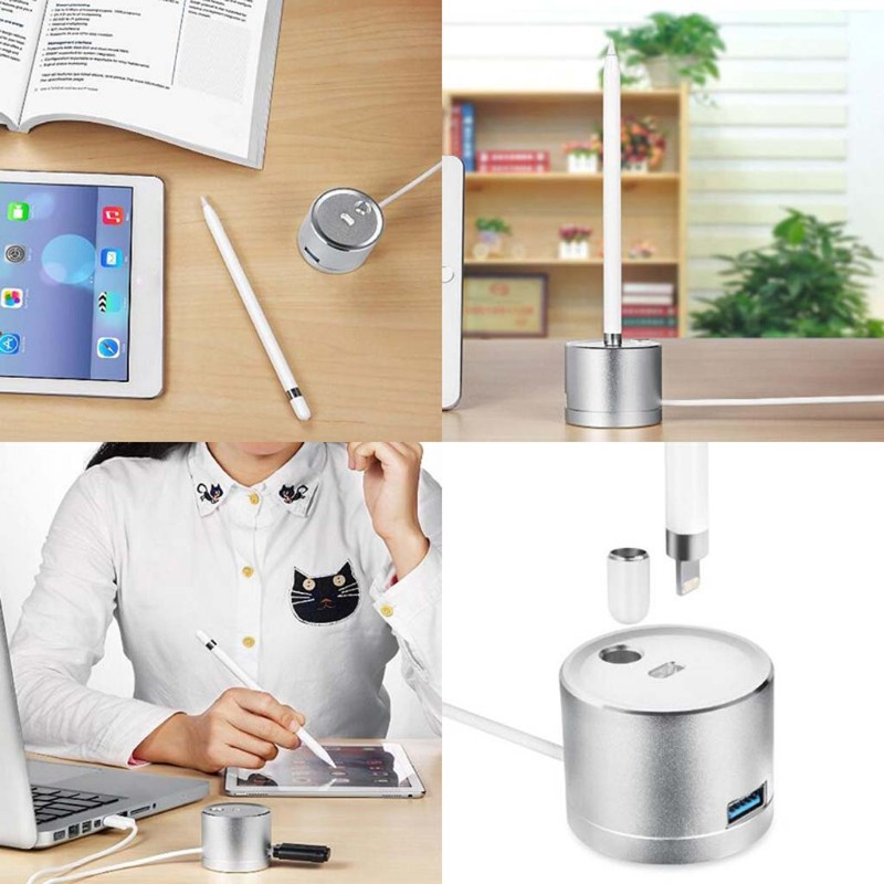 ❤❤ Aluminum Charge Dock Station Holder With USB Extension Cable For iPad Pro