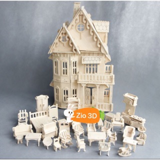 Đồ chơi lắp ráp gỗ 3D Gothic Villa