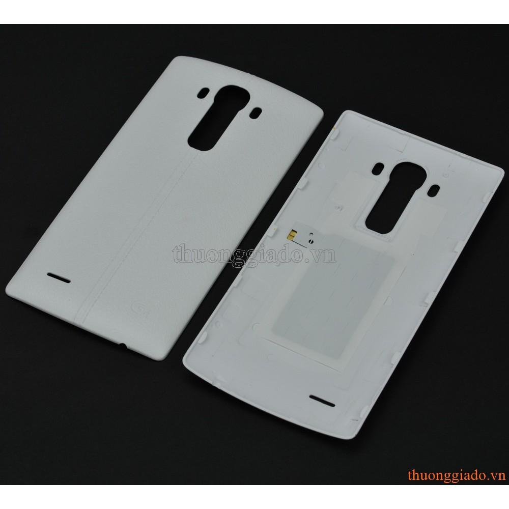 NẮP LƯNG (NẮP ĐẬY PIN) LG G4 F500 MÀU TRẮNG SỮA (NHỰA GIẢ DA)