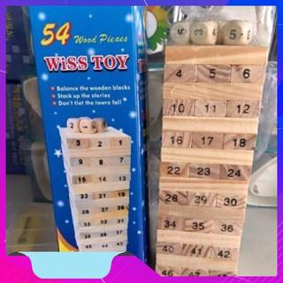 Nhanh Tay ✪ ĐỒ CHƠI Bộ trò chơi rút gỗ 54 thanh ✫