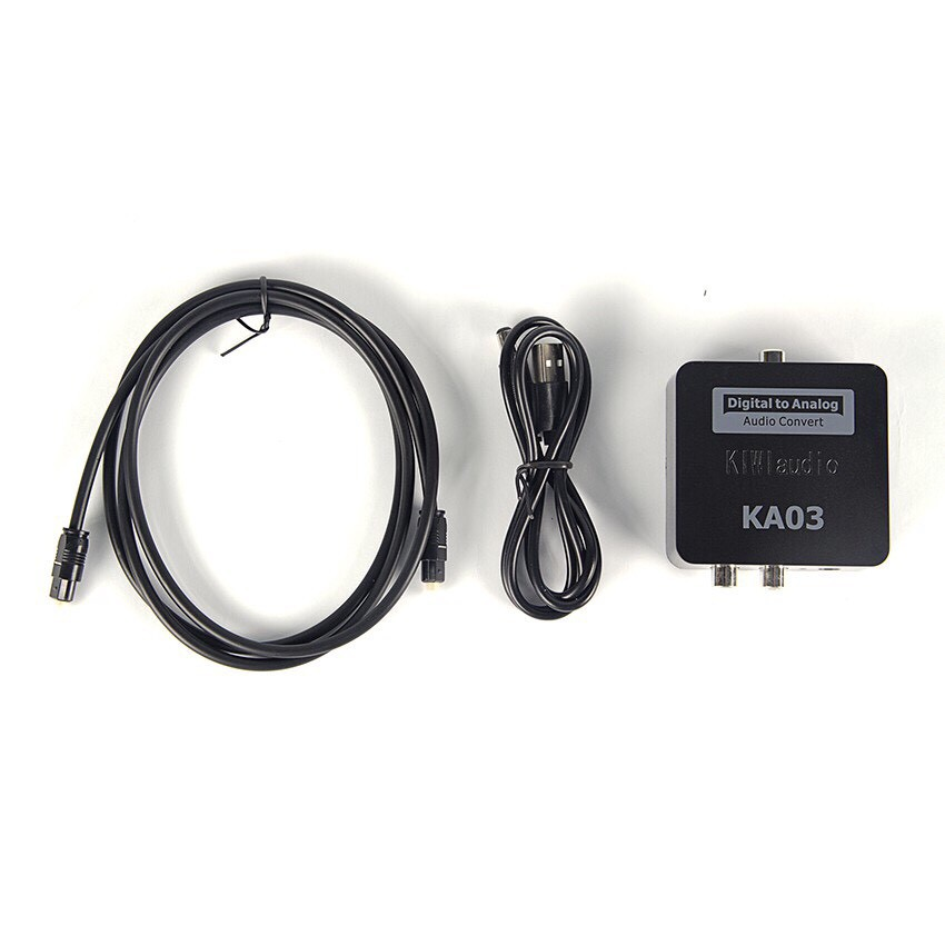 Bộ chuyển đổi âm thanh optical audio Kiwi KA–03. Bộ chuyển quang tiếng to chính hãng Kiwibox chất lượng cao