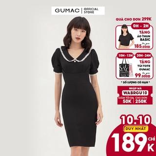 [Mã WABRGU10 giảm 10% đơn 250k] Đầm ôm nữ xếp ngực bản eo GUMAC phong cách sang trọng, thanh lịch DB331 thumbnail