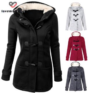 ☁ி☁ Women Outwear Winter Warm Hooded Coat Windproof Long Sleeve Thicken Parka