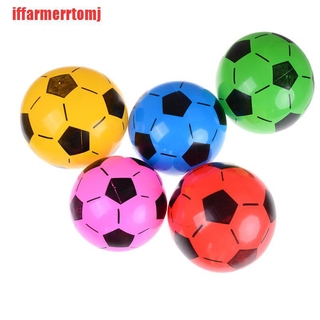 (ASD-COD)1PC Inflatable PVC Football Soccer Ball Kids Children Beach Pool Sports Ball Toy