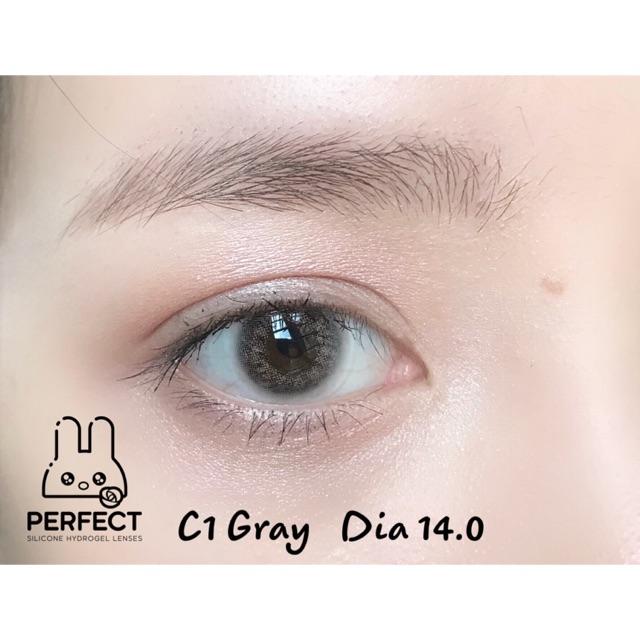 [Giá 1 Đôi] 14.0 (0.00 ->8.00) Lens C1 Gray – Kính Áp Tròng