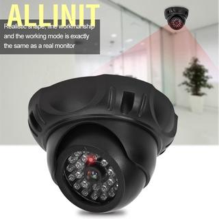 Allinit Câmera Falsa Manequim Monitor De Segurança Com Luz Led Preto