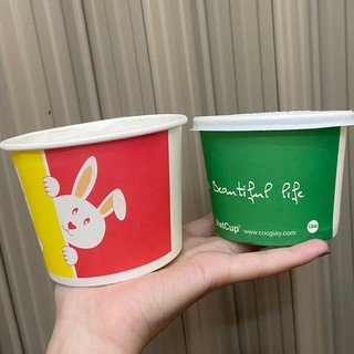 100 cốc giấy 12oz 360ml bát có nắp đựng canh cơm cháo ly giấy đựng kem 350ml có nắp LB12 Vietcup - Paper cup Hộp giấy thumbnail