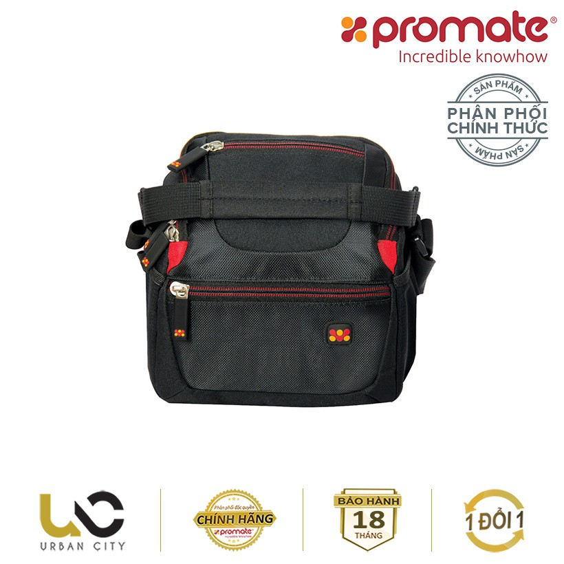 Túi đựng máy ảnh Promate HandyPak1 có dây đeo vai (Cỡ nhỏ) - Hàng Chính Hãng