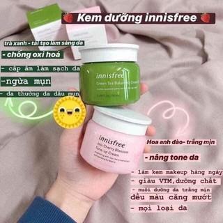 Kem dưỡng Innisfree 2 loại Trà xanh & Hoa anh đào