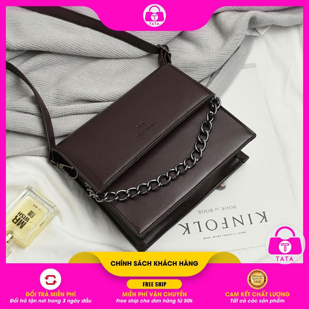 Túi đeo chéo nữ 🔥FREESHIP 50K 🔥Túi đeo chéo DO&THINK dáng vuông phối dây xích siêu đẹp DC24 - TATA.VN