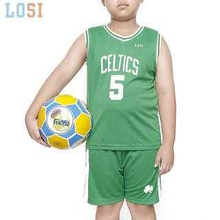 Bộ quần áo bóng rổ trẻ em thun mát nhiều size màu lựa chọn- mẫu mùa hè 2020 – LOSI COLTICS 2020