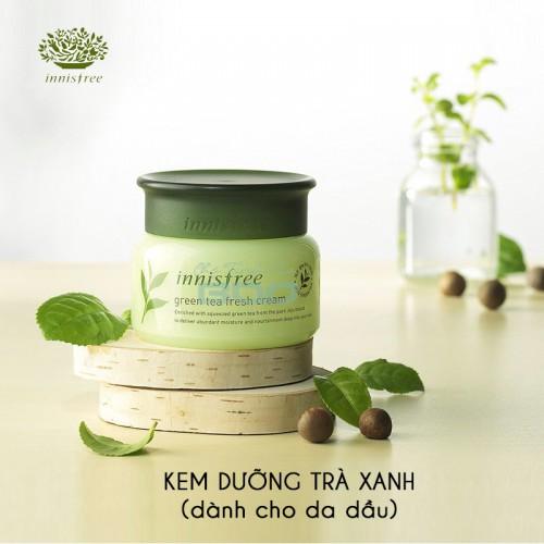 Kem dưỡng kiềm dầu, se khít lỗ chân lông Innisfree fresh green tea - 10008537 , 979632058 , 322_979632058 , 329000 , Kem-duong-kiem-dau-se-khit-lo-chan-long-Innisfree-fresh-green-tea-322_979632058 , shopee.vn , Kem dưỡng kiềm dầu, se khít lỗ chân lông Innisfree fresh green tea