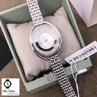 (Sẵn 7 màu ) Đồng hồ nữ SWAROVSKI CRYSTALLINE OVAL BRACELET WATCH 5181 case 37 43MM. 3atm thumbnail