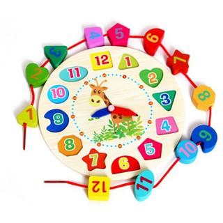 Đồ chơi đồng hồ gỗ cho bé - Đồ chơi thông minh thumbnail