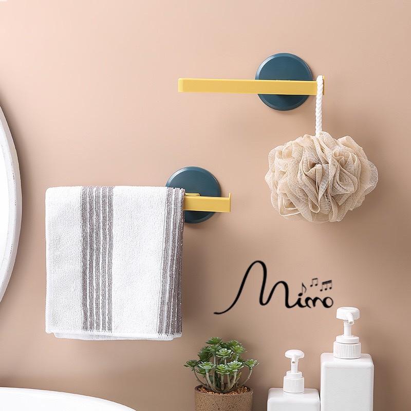 Giá treo khăn, thanh treo khăn hình chữ T dán tường không khoan tường siêu chắc thẩm mỹ cao 3 màu
