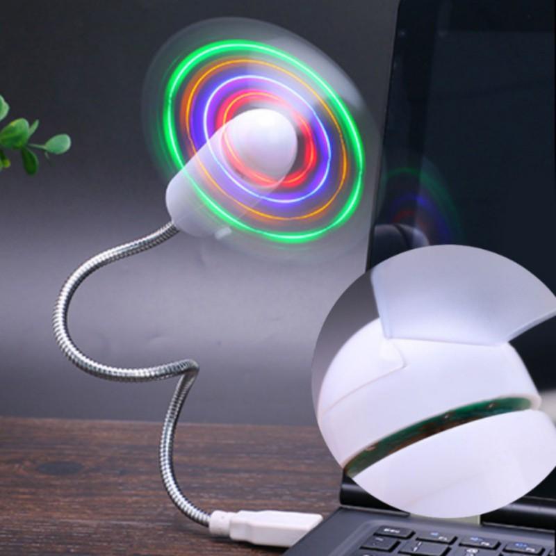 Goods DIY Flessibile A Collo di Cigno Aprogrammable Fan USB MINI LED Night Lights