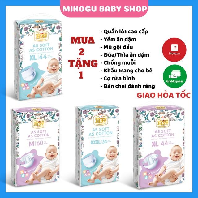Bỉm Yiying 💝FREESHIP💝 Yiying Bông/Yiying Baby/Yiying Heo Chính Hãng Xuất Âu Quần/Dán Đủ Size S72/M60/L52/XL44/XXL40