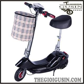 Xe Điện E-scooter mini Màu Đen / GuSin Phân Phối Chính Hãng / Sỉ lẽ Toàn Quốc