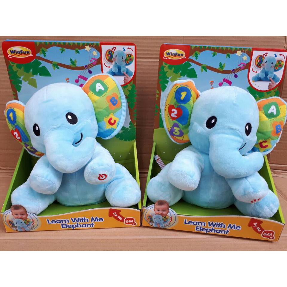 Đồ chơi hình con voi có nhạc Winfun - Hàng chính hãng