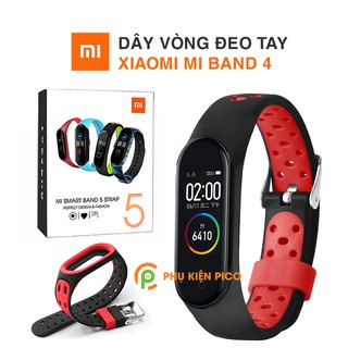Dây đeo thay thế Mi Band 4 - Dây silicon vòng đeo tay Miband 4 chính hãng Xiaomi (Xiaomi Mi Band 4) thumbnail