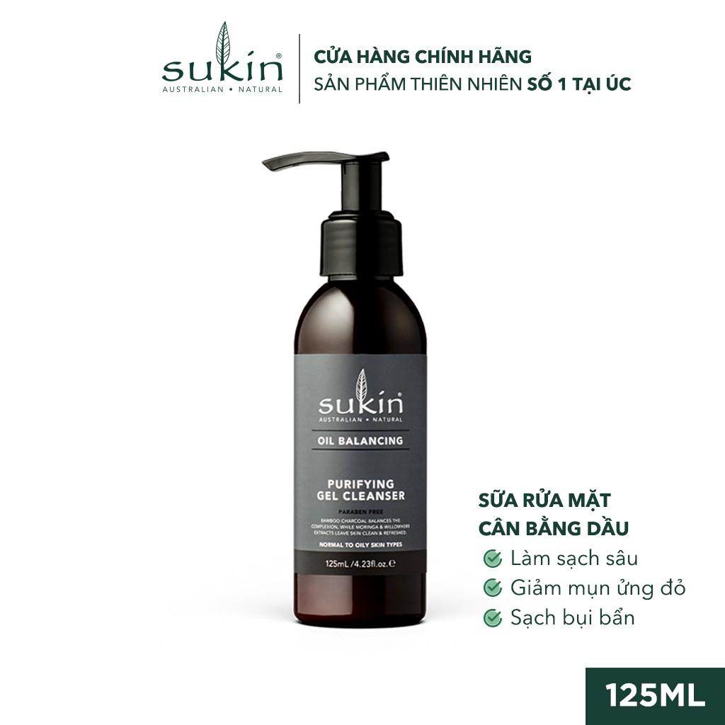 Sữa Rửa Mặt Cân Bằng Dầu Sukin Oil Balancing Purifying Gel Cleanser 125ml