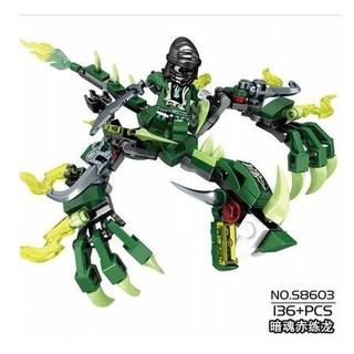 Lego xếp hình Ninja Kỵ Sĩ 115 & 136 chi tiết