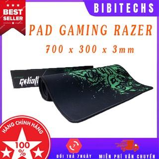 Lót chuột gaming cỡ lớn ❤️FREESHIP❤️ 700*300*3mm có bo viền, bàn di chuột chơi game FPS, LOL, MOBA, dày dặn - BiBiTechs