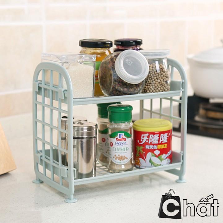 Kệ nhà bếp nhựa 2 tầng đa năng
